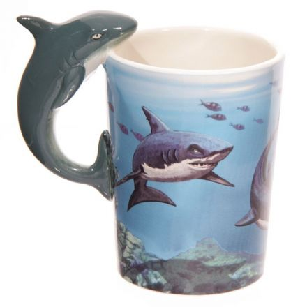 Shark Handle Ceramic Mug with Decal